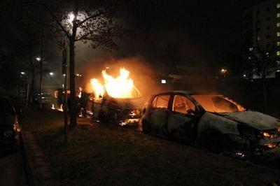 Schweden Brennende Autos
