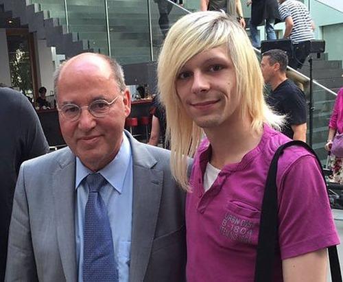 Christopher Pietsch mit Gregor Gysi
