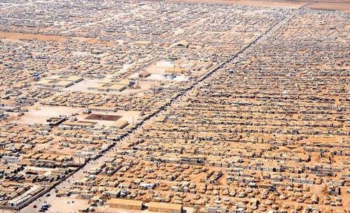 syrisches Flüchtlingscamp Zaatari in Jordanien