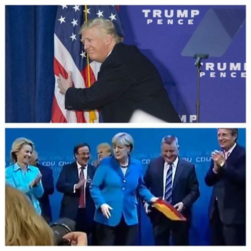 Merkel Wirft Flagge Weg