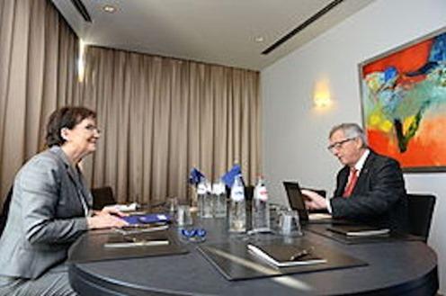 Ewa Kopacz und Jean-Claude Juncker
