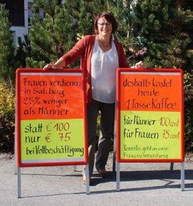 Frauen verdienen in Salzburg 25% weniger, Kaffee für sie umso teurer