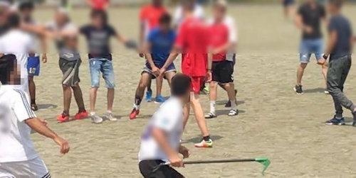 Fußballspiel im Berufsschulzentrum