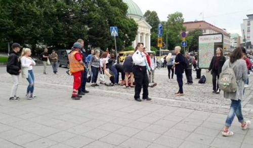Puutori-Platz in Turku_Finnland