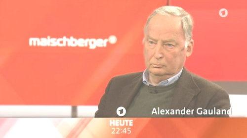Alexander Gauland bei Maischberger