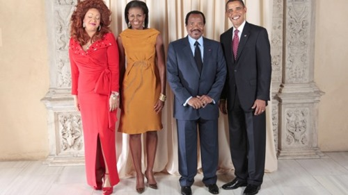 Paul_Biya_with_Obamas