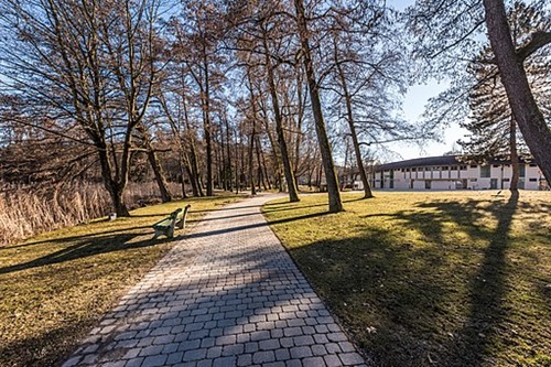 Pörtschach_Hans-Pruscha-Weg_Parkbäume_und_Schilfgürtel