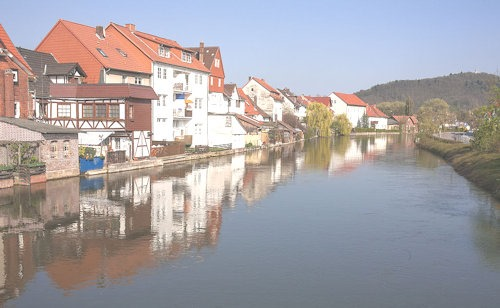 Eschwege_-_Houses_on_the_river_Werra